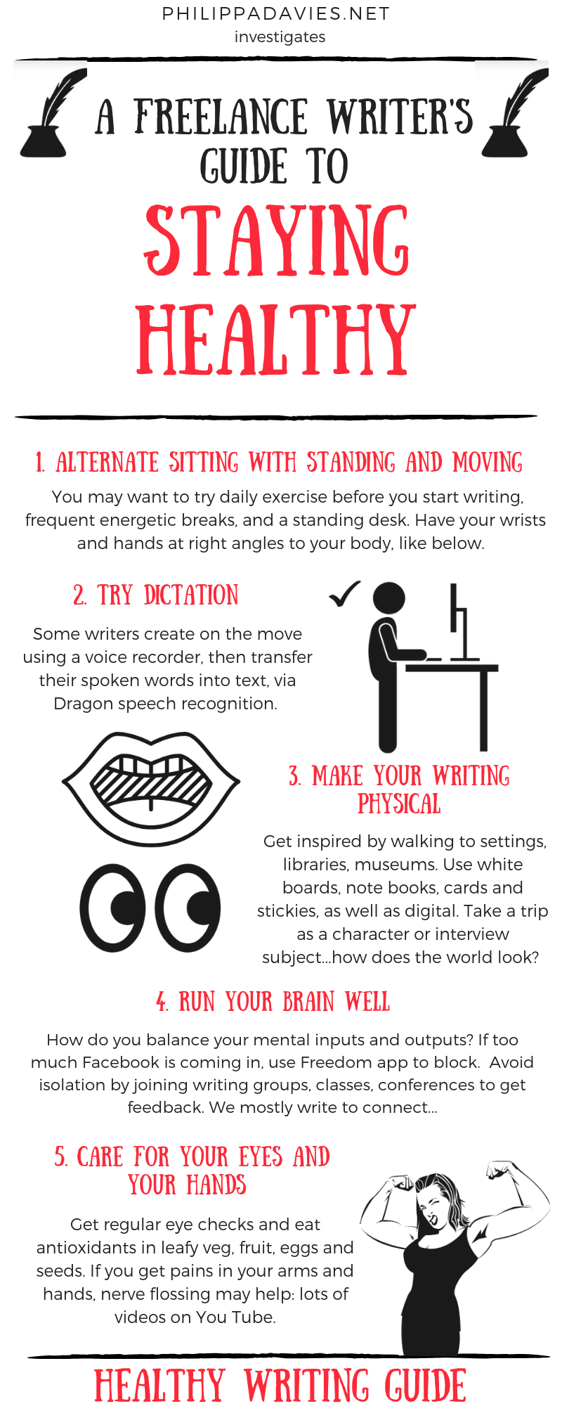 Freelance writer's guide to staying healthy